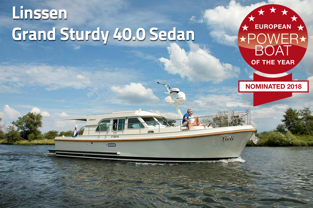Linssen Grand Sturdy 40.0 Sedan has been nominated for the European Powerboat of the Year 2018