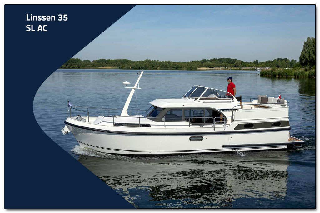SL series has been extended to include the Linssen 35 SL AC