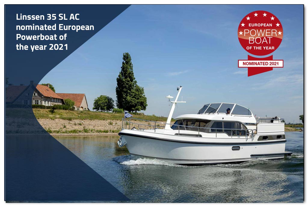 Linssen 35 SL AC genomineerd voor European Powerboat of the Year 2021