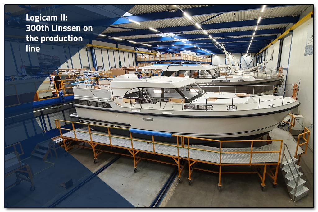 300th Linssen yacht on the Logicam production line