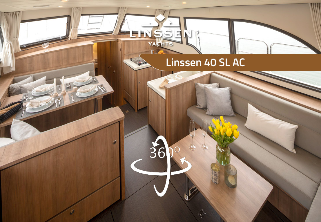 360 degree panorama of Linssen 40 SL AC