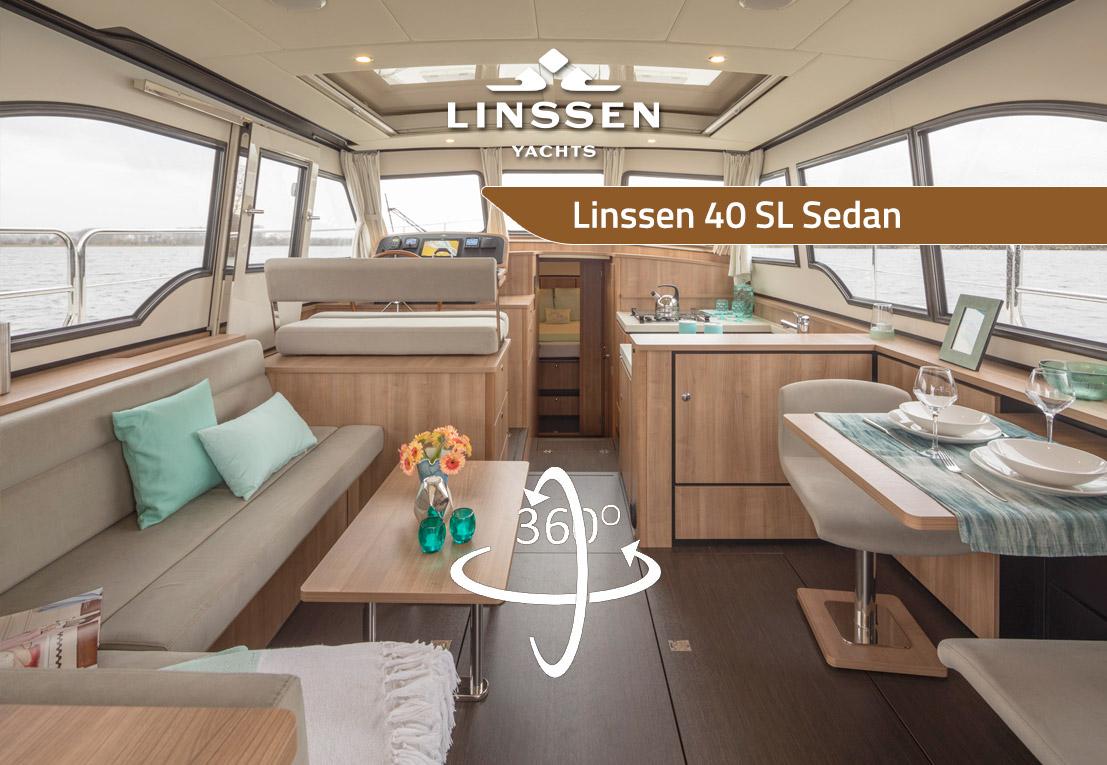 360 degree panorama of Linssen 40 SL Sedan