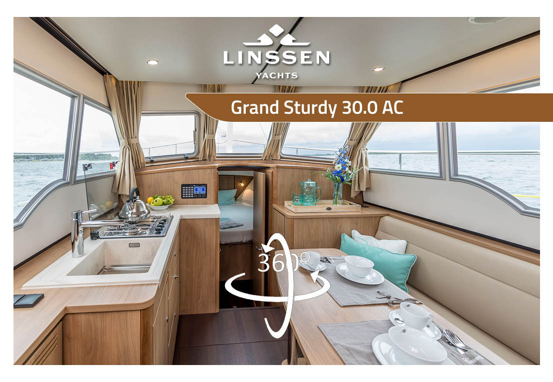 360 degree panorama of Linssen Grand Sturdy 30.0 AC