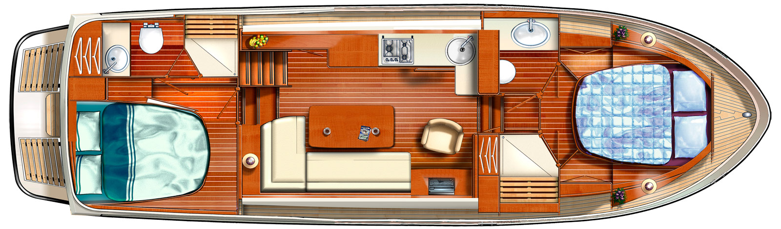 pre owned Linssen Grand Sturdy 36.9 AC layout