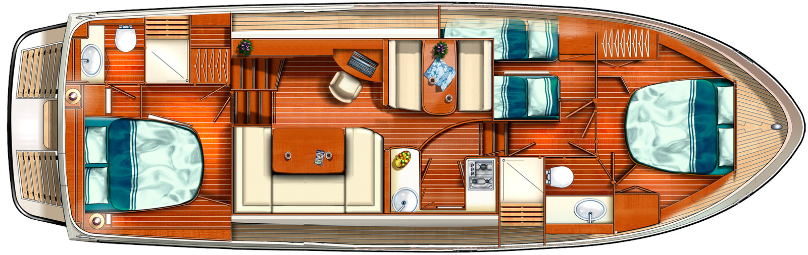 Pre owned Linssen Grand Sturdy 43.9 AC layout
