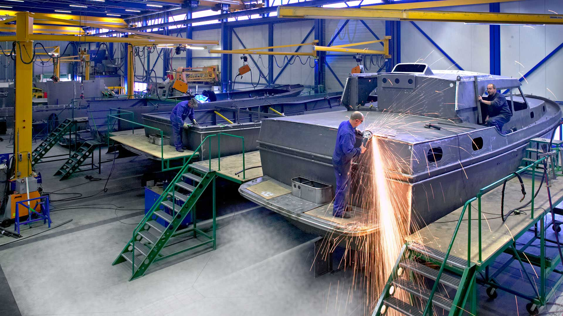 Steel hull production
