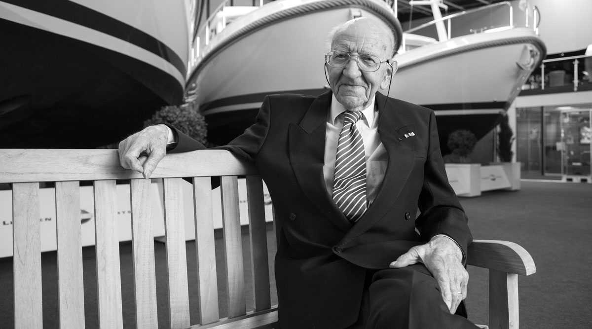 Jac Linssen; founder of Linssen Yachts