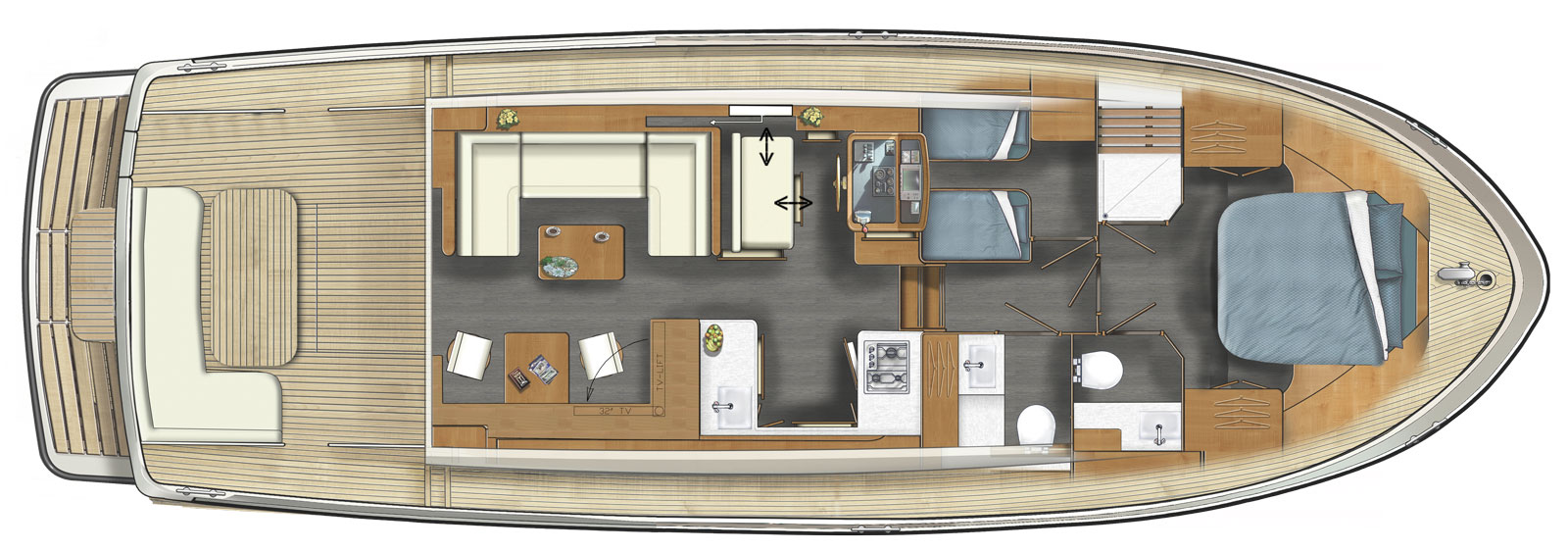 Linssen Grand Sturdy 45.0 Sedan layout