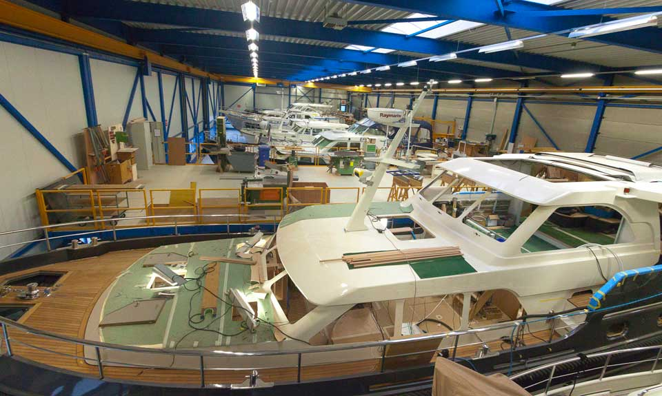 linssen yachts production logicam III